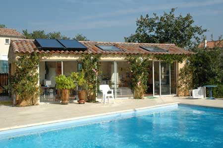 Poolhouse bambouseraie Labeaume