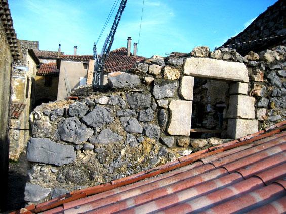 Ouverture fenêtre pierre