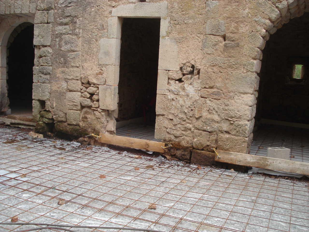 Rénovation Mas de la Baume  hôtel de charme Rosières 14