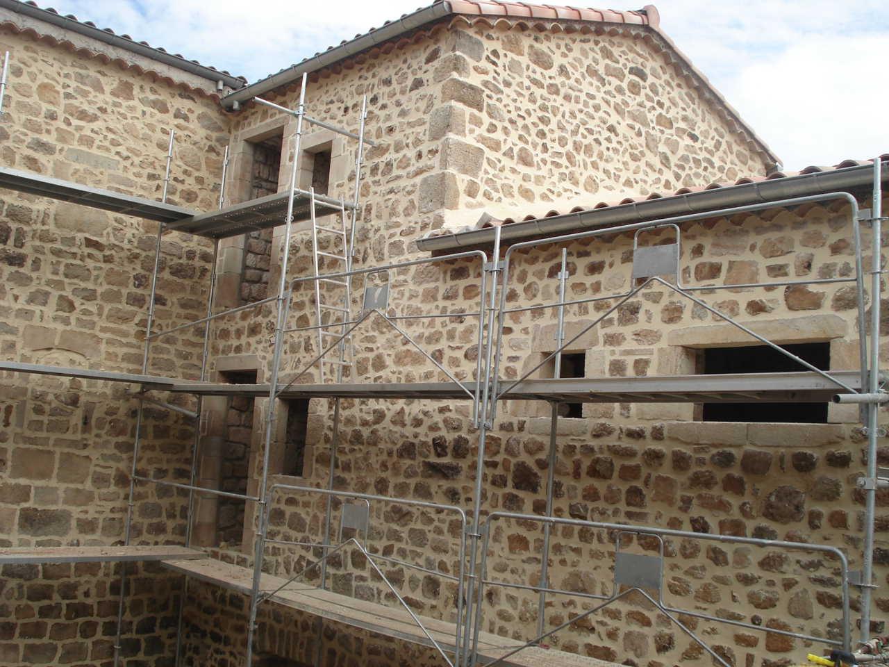 Rénovation Mas de la Baume  hôtel de charme Rosières 20