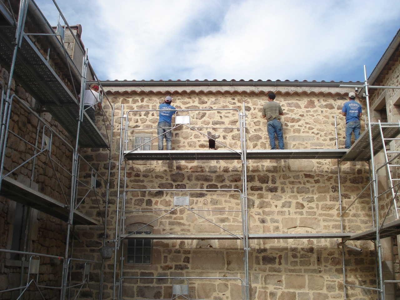 Rénovation Mas de la Baume  hôtel de charme Rosières 22