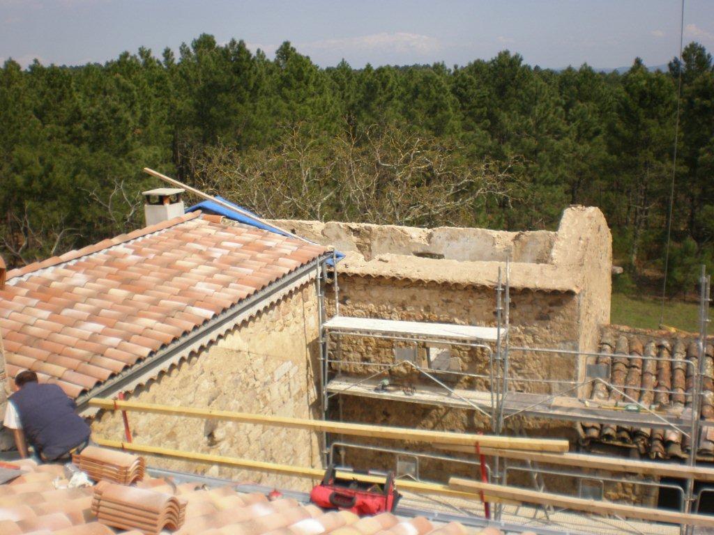 Rénovation Mas de la Baume  hôtel de charme Rosières 36