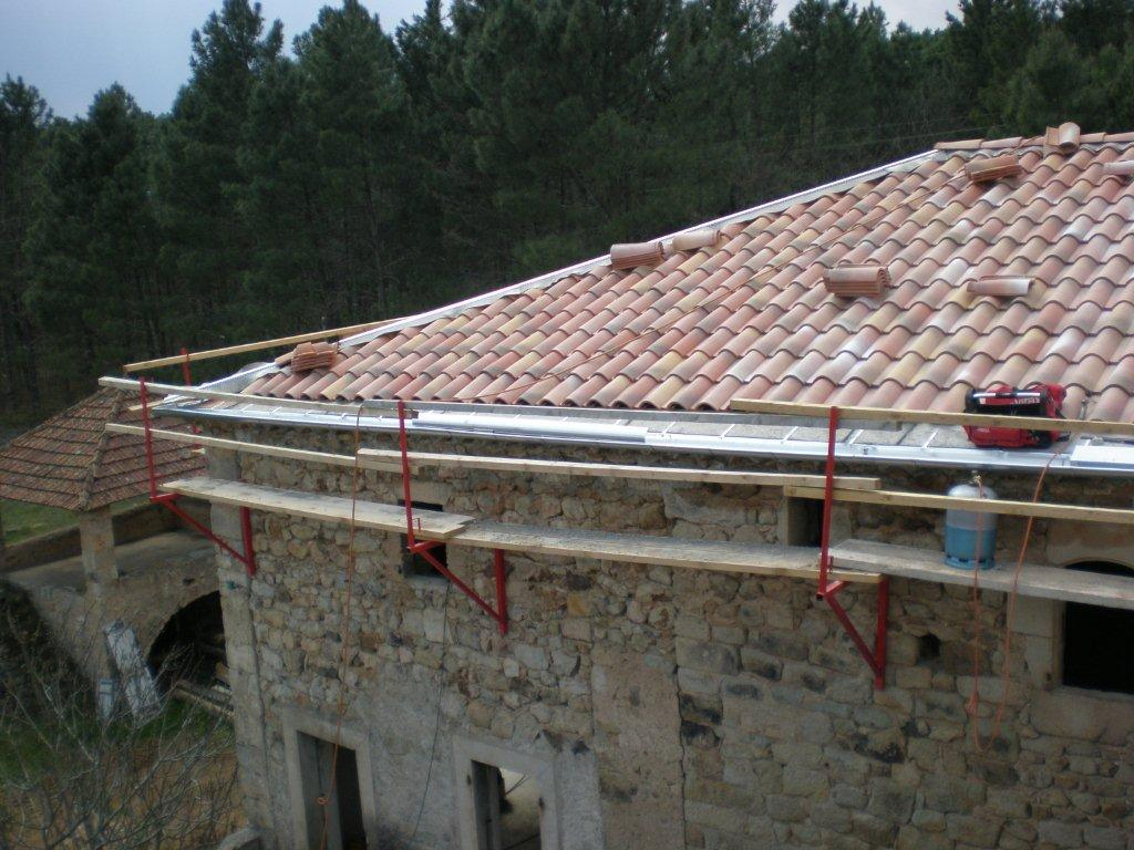 Rénovation Mas de la Baume  hôtel de charme Rosières 40