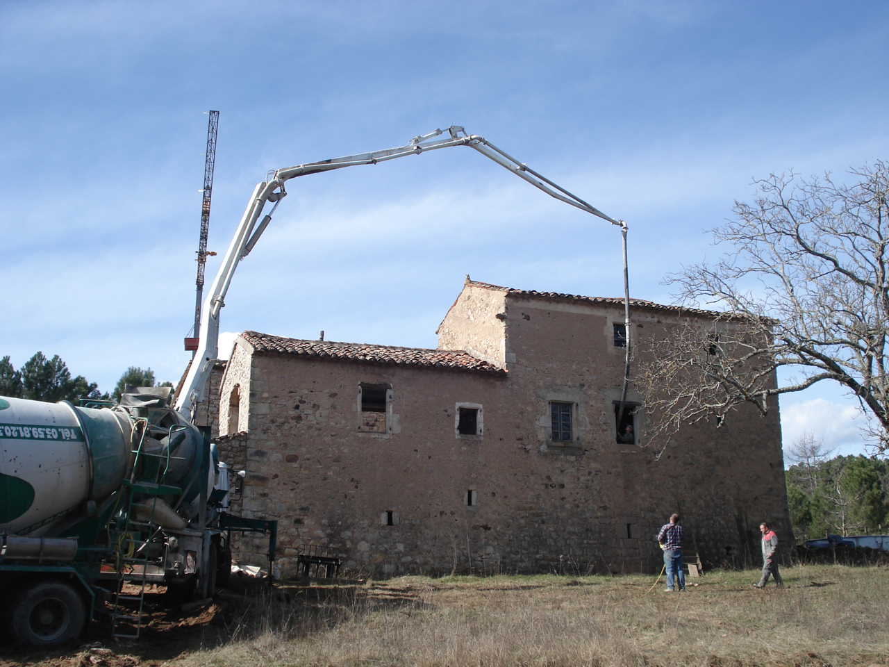 Rénovation Mas de la Baume  hôtel de charme Rosières 7