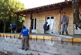 Terrasse avec dalle béton
